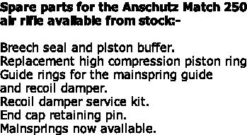 Anschutz 250 service kit